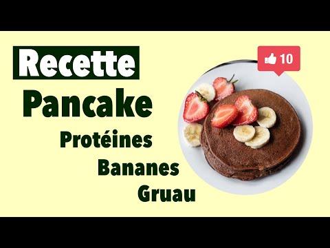 recette-santé-facile-pancake-protéines-bananes-gruau-yogourt-grecque