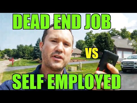 Having A Dead End Job Vs Being Self Employed | Landscaping Trap🥾