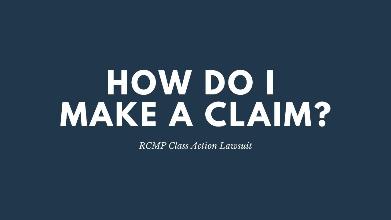 RCMP Class Action Lawsuit | How Do I Make a Claim – Higgerty Law