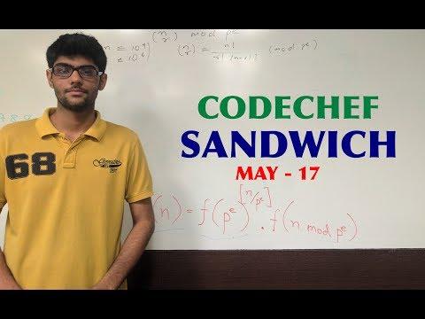 Lucas Theorem - Codechef - SANDWICH
