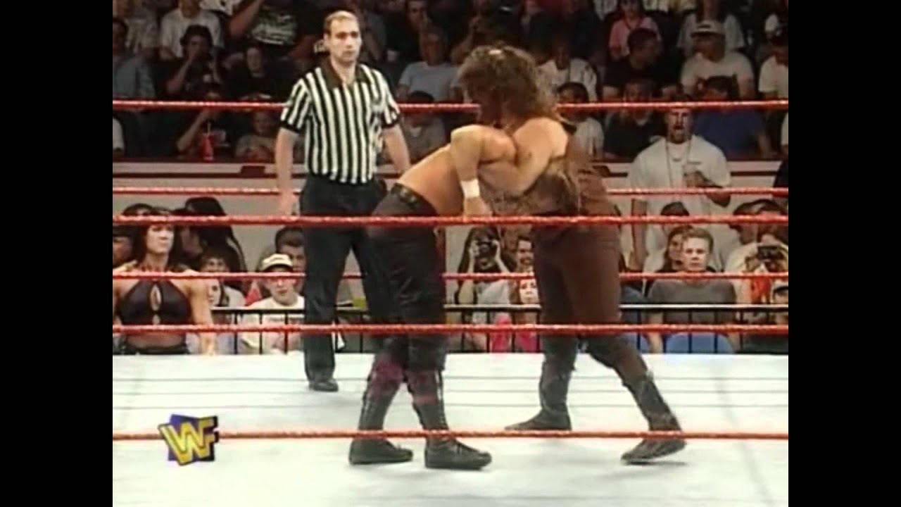 Double Arm DDT for Mankind WWE Played Raw Deal Wrestling WWF