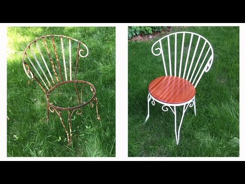 Wrought Iron Chair Teak Lounge Chairs Restore Old The Short Version Youtube