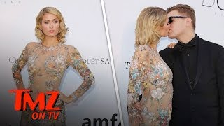 Paris Hilton Poses at Cannes After Fiance Chris Zylka Fixes Her Dress | TMZ TV