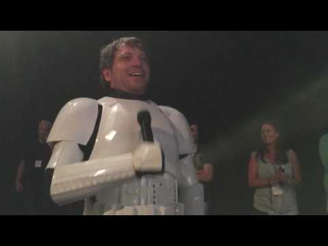 Rogue one director Gareth Edwards appears as stormtrooper on art of Star Wars panel!