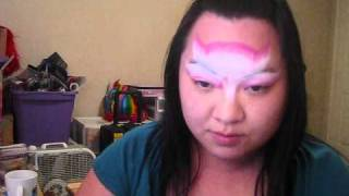 "I ""Wonder"" how series - Pink and White Split cake face painting tutorial Thumbnail"