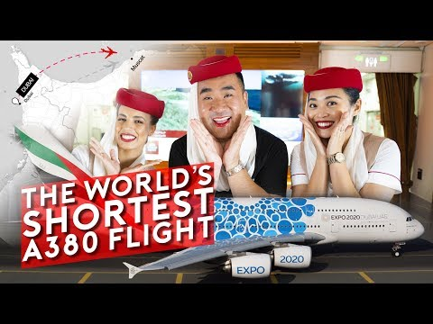 The World's SHORTEST A380 Flight - Just 40 minutes!