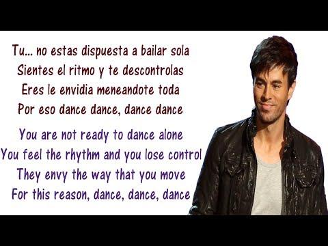 Enrique Iglesias  Noche Y De Dia Lyrics English and Spanish ft Yandel, Juan Magan  Translation