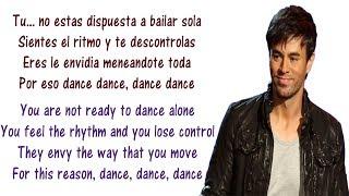 Enrique Iglesias Noche Y De Dia Lyrics English And Spanish Ft Yandel Juan Magan Translation