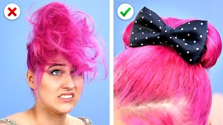 COIFFURES FACILES! 😱 9 Astuces Cool pour Cheveux & Astuces de Beauté DIY par l'Astuce du Panda