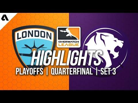 London Spitfire vs LA Gladiators | Overwatch League Playoffs Highlights Quarterfinals Match 3 thumbnail
