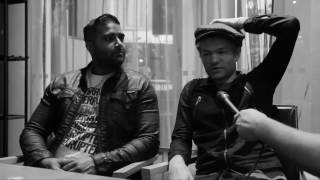 Sum 41 frontman Deryck Whibley and guitarist Dave Baksh being inter...
