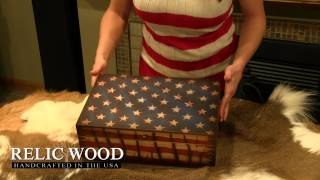 Us Flag Keepsake Box
