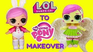 DIY Custom Hops To Fluttershy LOL Surprise Doll My Little Pony MAKEOVER