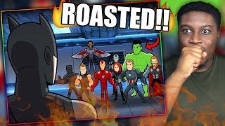 BATMAN ROASTS THE ENTIRE AVENGERS!   Batman vs Avengers Reaction!