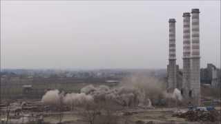 Wyburzanie Kominów Cementownia Chełm II