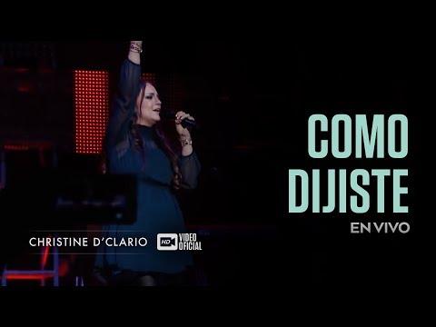 Christine D'Clario   Como Dijiste   En Vivo