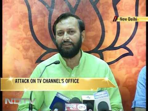 RSS workers attack TV channel