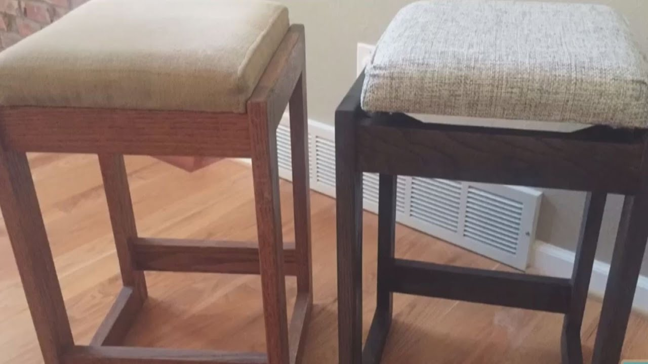 how to refinish wood chairs padded camping chair furniture old bar stools youtube