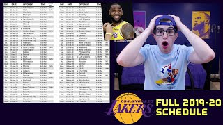 LAKERS 2019-20 FULL SCHEDULE REVIEW!!! KEY GAMES+MORE