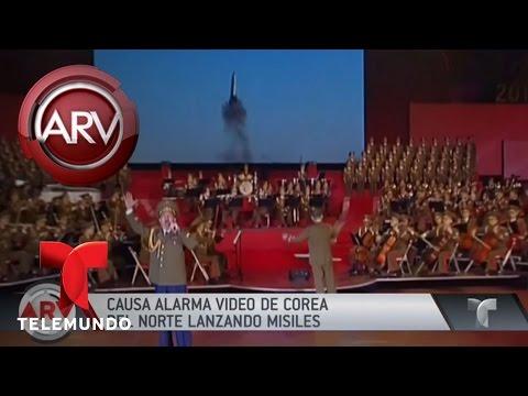 Corea del Norte transmite en TV cómo sería ataque a Estados Unidos | Al Rojo Vivo | Telemundo