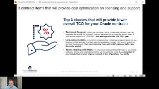 Top3 Oracle Contract Terms that will lower your Oracle SW TCO