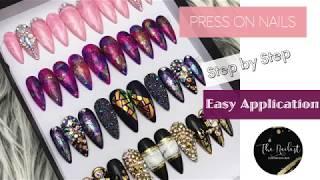 How to apply press on nails, false nail.