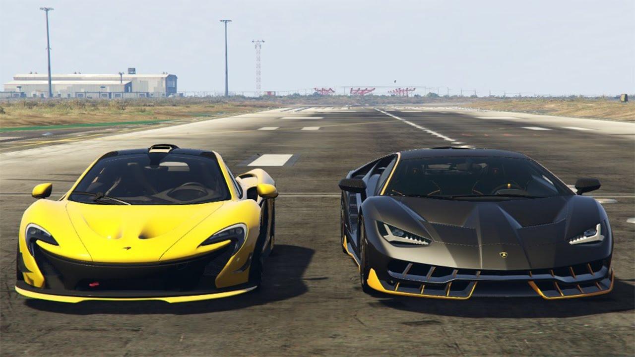 Gta 5 Ita Mclaren P1 Vs Lamborghini Centenario Youtube