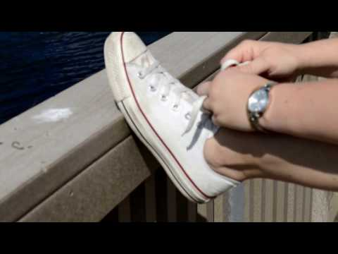 Well Worn Womens Converse Chuck Taylor White Red Shoes