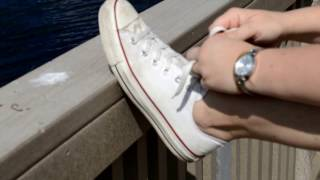 Well Worn Women's Converse Chuck Taylor White Red Shoes