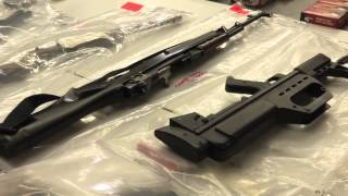Police remove weapons and drugs cache from the Hells Angels OMCG