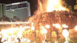 Mirage Volcano Show in Las Vegas [4K]