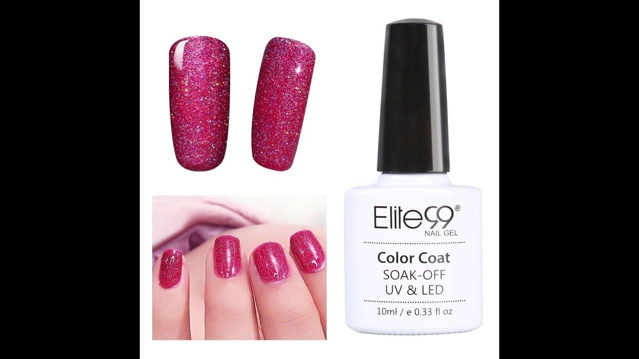 Elite99 Soak Off UV LED Bling Neon Gel Nail Polish Nail Art Tutorial ...