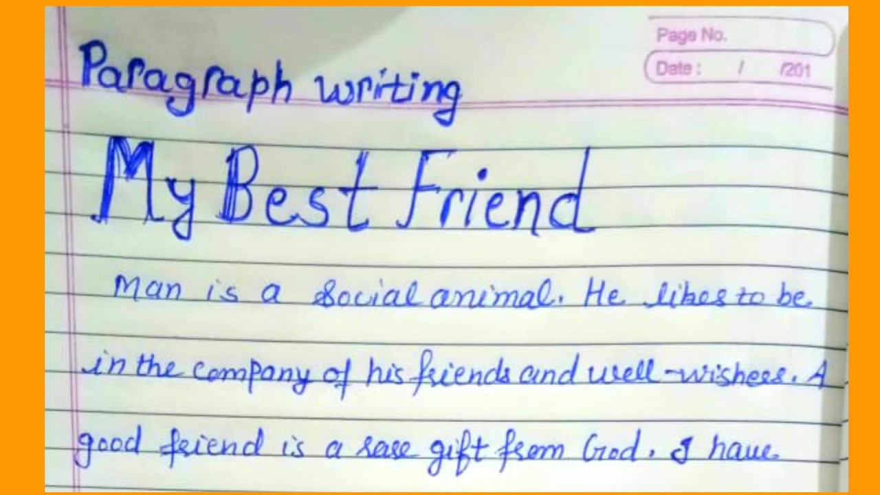 Write an essay on best friend