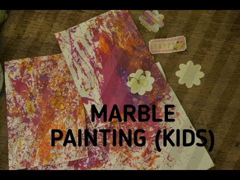 Marble painting | DIY card  (basic and easy for kids)