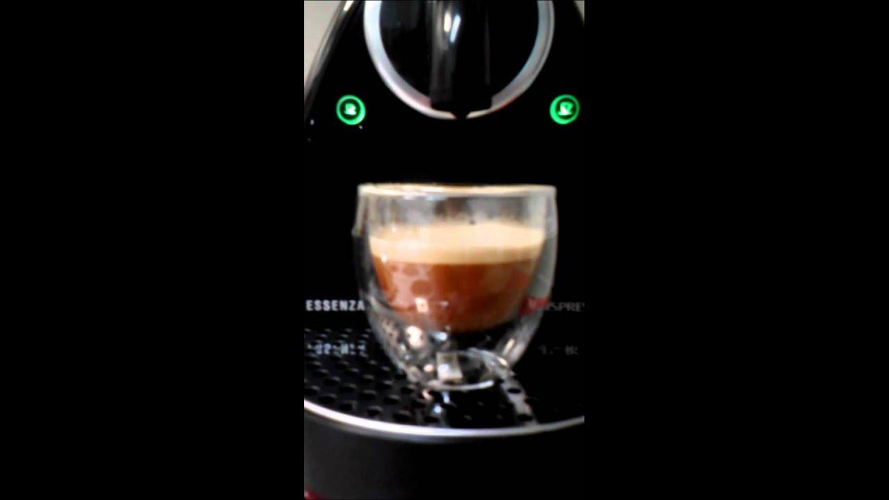 First pull on Nespresso c101 essenza - YouTube