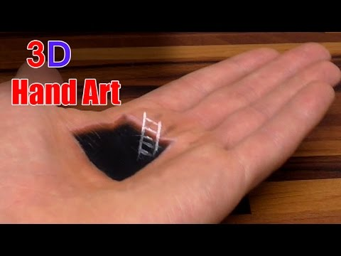 Hand Art 3D: Hole Illusion | Trick Drawing