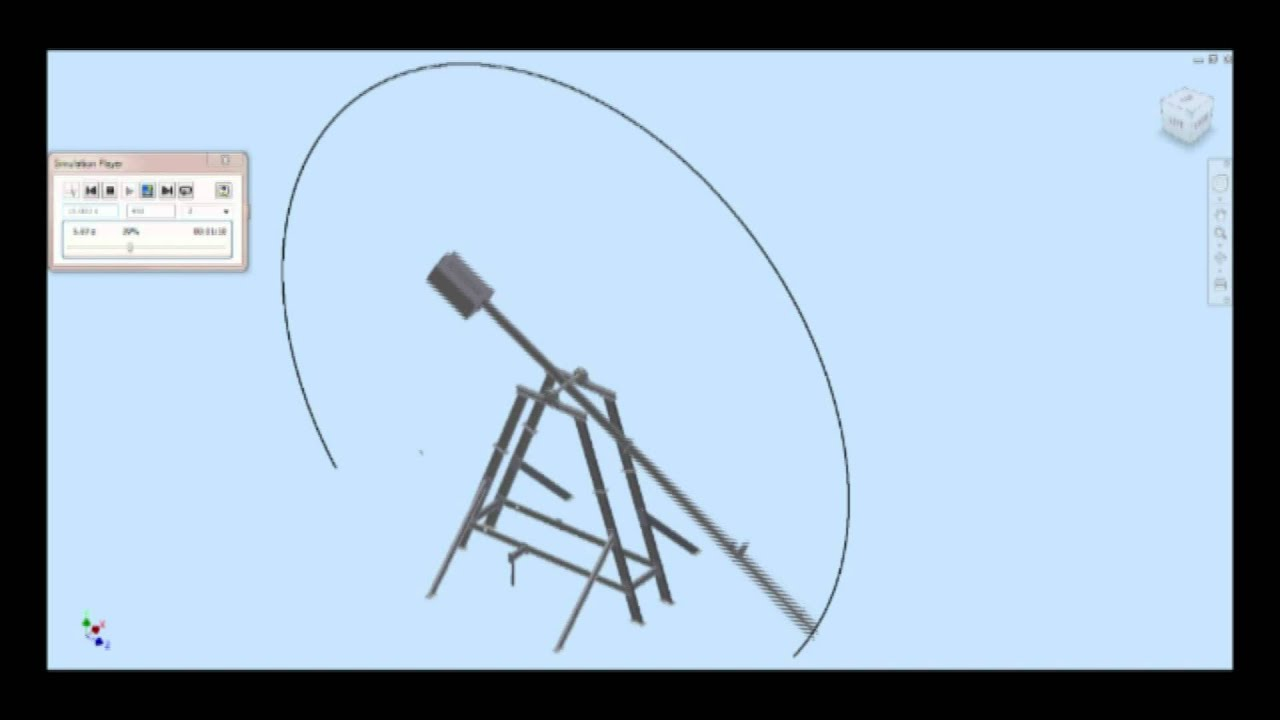 trebuchet counterweight diagram
