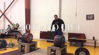 Jiri Orsag (Czech Republic) clean from blocks 250Kg!