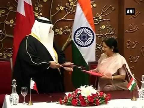 Sushma Swaraj meets Bahrain foreign minister in New Delhi