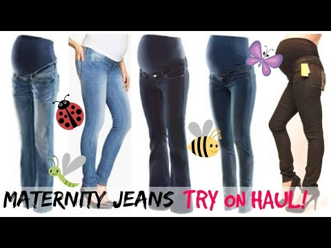 FIRST PREGNANCY HAUL | MATERNITY JEANS TRY ON!