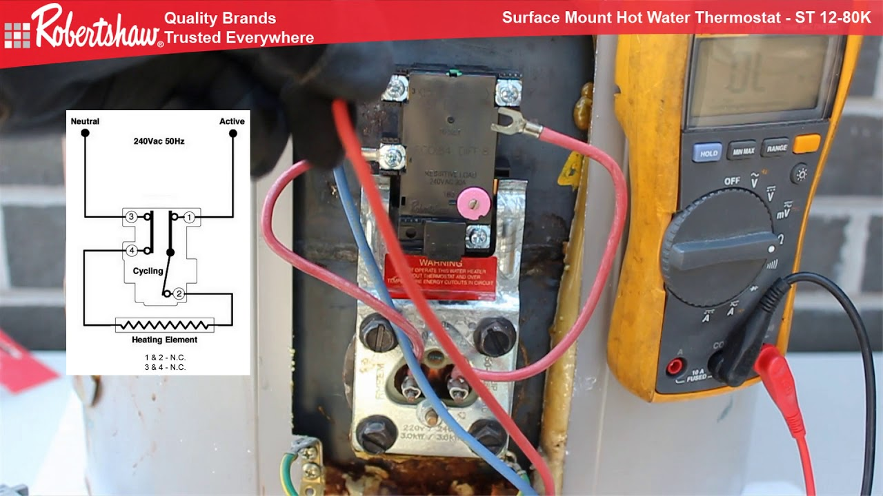 robertshaw thermostat 9600 wiring diagram truck trailer plug o8 sprachentogo de surface mount st12 80k youtube rh com 9520