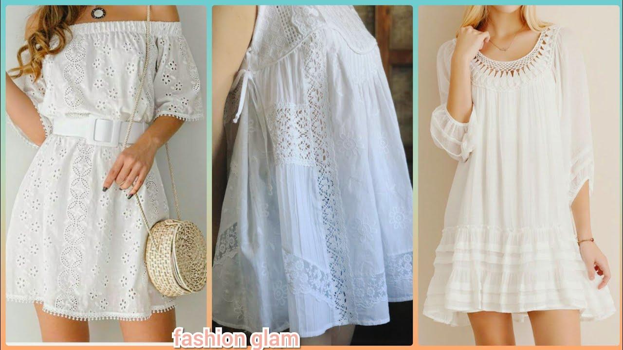white casual dresses/white midi dress/white chiken kari dress/lace dress/white lace shift dress