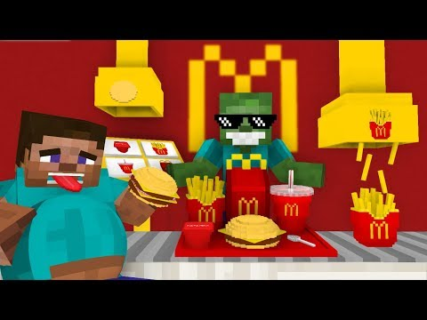 Monster School: WORK AT MCDONALD'S PLACE - Minecraft Animation