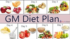 GM Diet Plan - A Healthy Meal Plan to Lose Weight Just in 7 Days