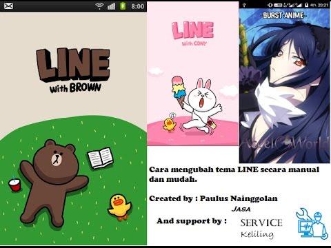 Tutorial tentang cara mengubah tema LINE (anime) Secara offline