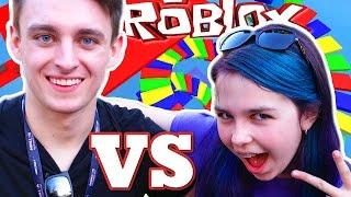 ROBLOX EASTER BUNNY OBBY RACE | Bunny Bunnerson vs Fishy Fisherson | RADIOJH GAMES