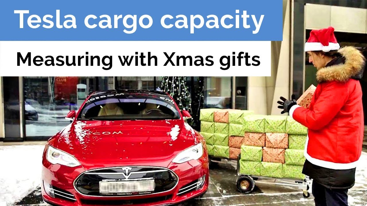 Measuring Tesla cargo space with gifts