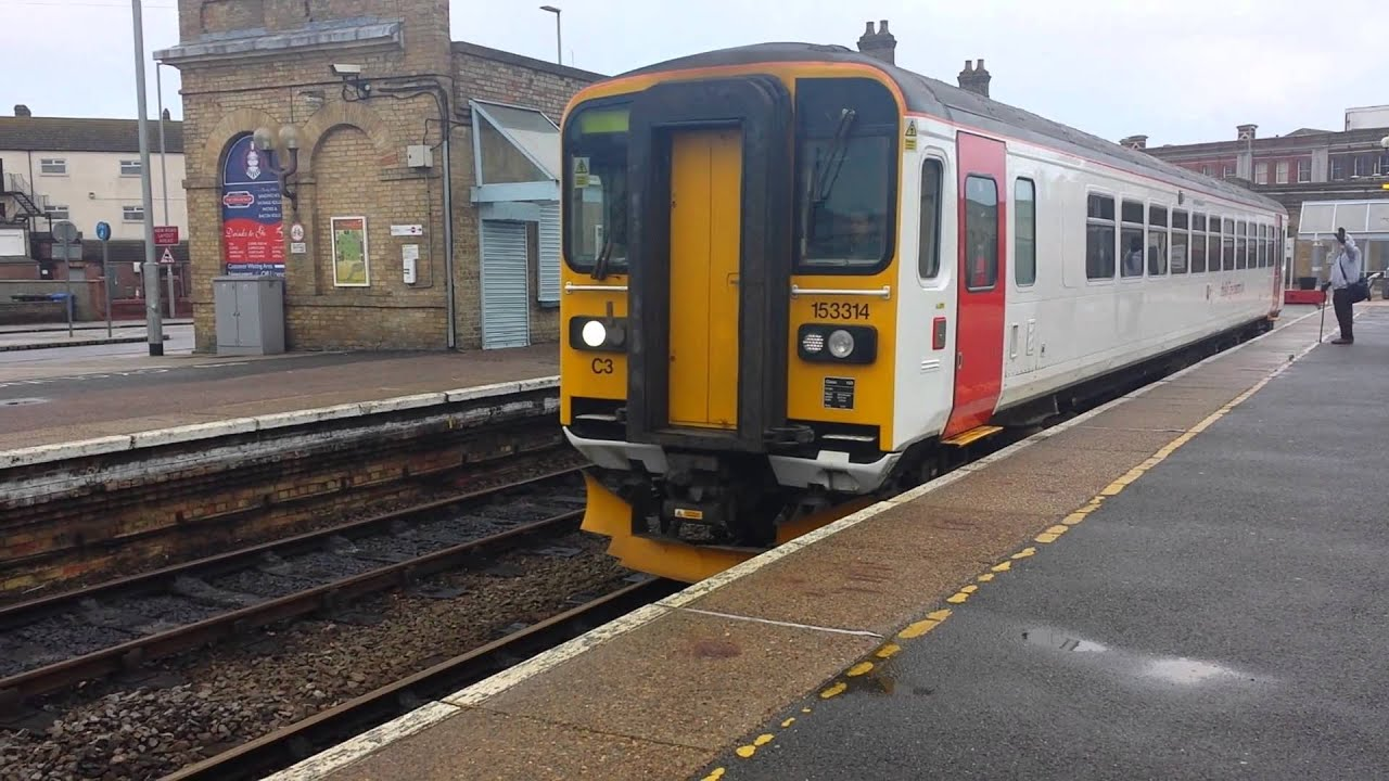 153 314 Departs Lowestoft With a 2 Tone 2/1/16