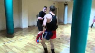 Тайский бокс. Произвольный бой в конце тренировки
