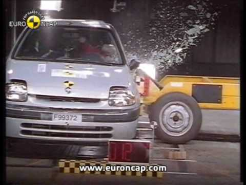 euro ncap renault clio 2000 crash test youtube. Black Bedroom Furniture Sets. Home Design Ideas